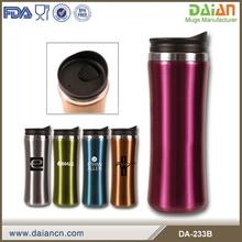 Custom double wall stainless steel coffee thermos travel mug