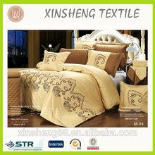Cotton satin KING size embroidery comforter bedding set 11pcs/set