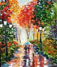 handmade vivid Masterpiece 55634 red tree painting wall art