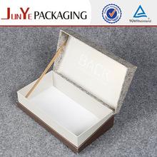 Cardboard bag in gift box for wine glasses