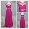 9725A Newest Style Mesh Hand-Beaded Chiffon Long Dress