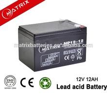 High quality 12ah video camera battery 12v