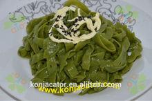 prevent fat- low calories low carb konjac noodles spinach konjac noodles