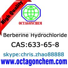 API-Berberine Hydrochloride, High purity Natural Berberine Hydrochloride 633-65-8