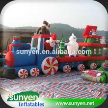 Hot Sale Inflatable Christmas Train Cartoon