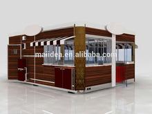 China made unique design mobile restaurant, container restaurant, prefabricated restaurant building of 100% customization