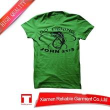 Polyamide printing green custom t-shirt