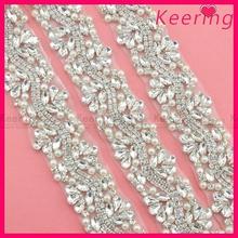 New fashion design wholesale decorative rhinestone diamante trim WRA-571