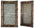 novo design retângulo de madeira espelho emoldurado na parede