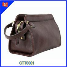 Custom High Quality Genuine Leather Cosmetic Bag Travel Cosmetic Bag