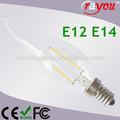 China made led bulb lights candle, 2w/4w led window candle lights, e14/e12 led artificial candle light for decoration