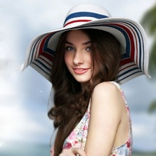 2015 hot sale ladies crushable promotional foldable straw hat