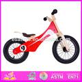 De madera en miniatura de la bicicleta de juguete para los niños, divertido juguete de madera de juguete bicicleta para los niños, de madera de la moda de la bicicleta de juguete w16c052