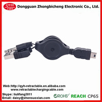 Dongguan Factory OEM design retracting mini usb speaker cable