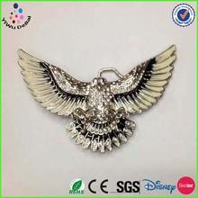 2014 Handmade Custom eagle Metal wholesale Hot Sale Fashion Accessories silver belt buckle