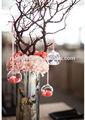 Colgantes de cristal en blanco del árbol de navidad bolas mh-12654