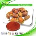 aliments naturels de couleur jaune gardenia extrait