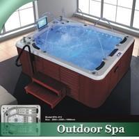 HS-SPA013 tall bathtubs walk in spa sex massage video tub
