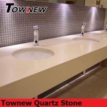non-radiative cream color manufactur quartz bathroom vanity top