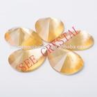 Flat Plastic Resin Rhinestone Beads