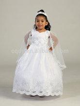 2015 custom made Handmake Baby Christening dress/first holy communion flower girl dress/white ball gown christening toddler