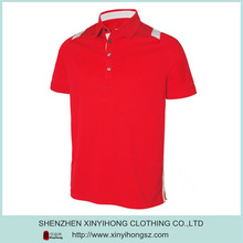 Red Color Mens Golf Polo shirts manufacturer with custom printed/Embroidered logo