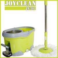 Joyclean JN-301 2015 Mopnado Deluxe Walkable Spin Mop, Platinum Spin Mop With Wringer Mop Bucket