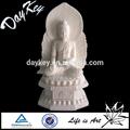 de mármol blanco estatua de buda
