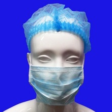 Hospital use pp nonwoven blue clip caps / hair net
