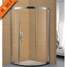 Circular aluminum polished sliding door sector shower enclosure bathroom shower HZ-6873