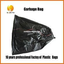 recycled HDPE colored drawstring trash plastic garbage bag manufacturing
