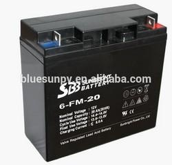 Good price high efficiency 25 years warranty ISO CE UL sealed lead acid battery 12v 20ah