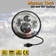 "7"" led headlight Chrome, Chrome 7 inch led head light, head driving light led 7"""