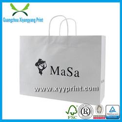 Fancy Custom Paper White Gift Bags in Guangzhou Wholesale