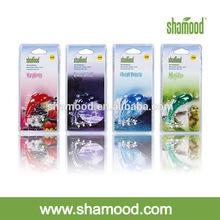Shamood Manufacturer Dolphin Shape Scented Gel Plastic Hanging Car Air Freshener