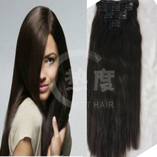 Wholesale 160g Full Head Clip In Hair Extension 10 pcs with 22 clips, Indian Remy Clip In Hair, Brazilian Virgin Clip On Hair