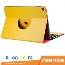 Seenda Hot Selling Yellow Bluetooth Keyboard Case for iPad Air 2
