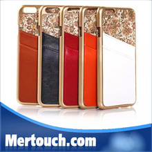 for iphone 6 case genuine leather back cover case with full floowes and card hold
