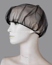 Disposable white brown red blue hair net stockinet nylon polyester mesh cap