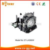 spare parts replacement compatible projector lamp ET-LAD60W for PANASONIC PT-D5000/PT-D6000/PT-D6710/PT-DW6300