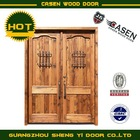 deluxe solid wood door with iron grill