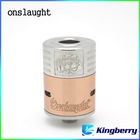 Hot selling Onslaught RDA atomizer copper/ss/brass1:1 clone with three colors rings factory price