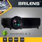 WiFi wireless connecting 30000 hours lamp life LED LCD 720P projector 4.2 game android tablet
