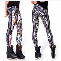 2015 Wholesale Women girls pictures sexy tattoo pantyhose leggings
