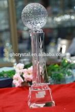 2014 China Supplier hot new golf crystal award/trophy