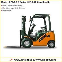 High-level Configuration! G series 1.5-1.8T Diesel Forklift
