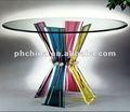 Ronde en acrylique transparent an-140/1124mm table avec les jambes bunchy