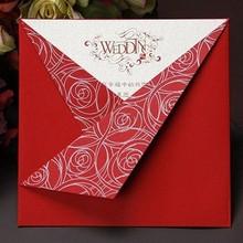 chinese embossed wedding invitation card