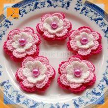 Yiwu Aimee supply decorative crochet handmade cloth flowers,handmade fabric flowers brooches