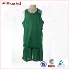 Wholesale top quality Green/White reversible mesh basketball jersey